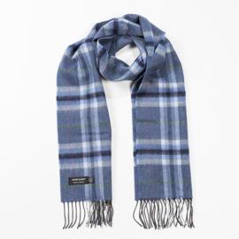 Merino sjaal Denim Grey