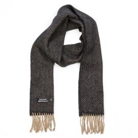 Cashmere Merino Sjaal Cream and Dark Grey