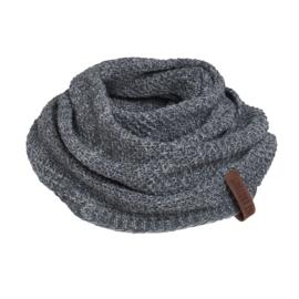 Knit Factory colsjaal Coco Antraciet/Grijs