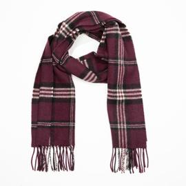 Ierse Wollen sjaal Maroon Black