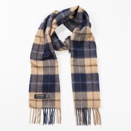 Merino sjaal Navy Beige Brown
