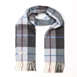 Ierse Wollen sjaal Light Blue Charcoal