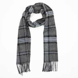 Ierse Wollen sjaal Charcoal Black Blue