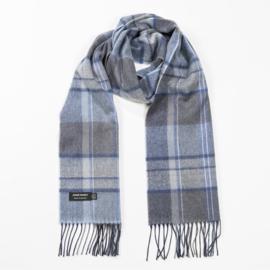 Merino sjaal Grey Blue