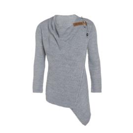 Knit Factory Vest Emy - Licht Grijs