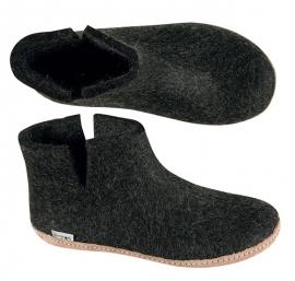 Glerups pantoffel Femke - Antraciet