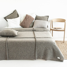 BEDSPREI WAVE TAUPE 1 PERSOONS
