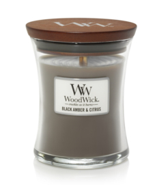 Woodwick Black Amber & Citrus [middel]