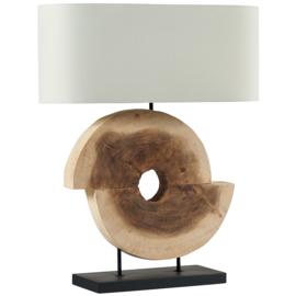 Lamp walnoot hout met kap