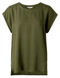 Cupro blend fabric mix t-shirt