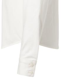 Soft jersey cotton blend shirt with blind placket