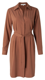Belted button up midi dress