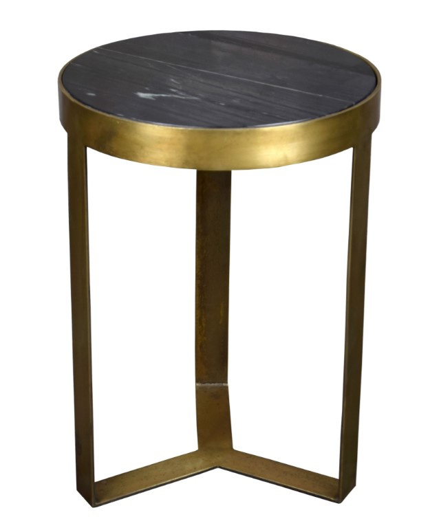 Bijzettafel Marble Goud 40 cm