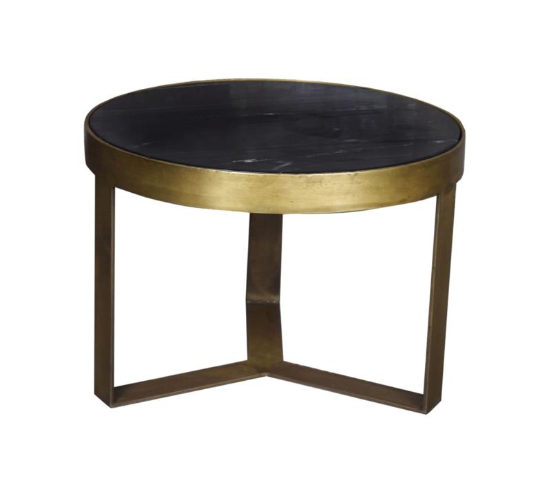 Bijzettafel Marble Goud 50 cm