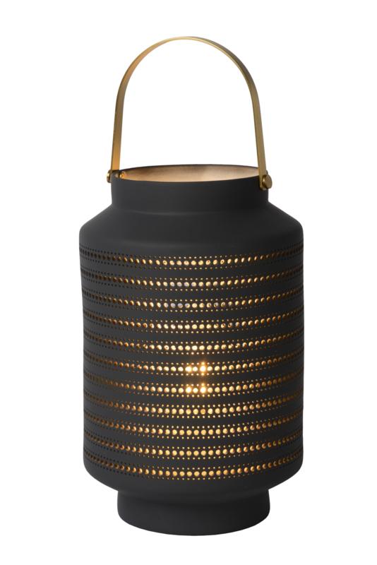 Tafellampje Grijs/Goud