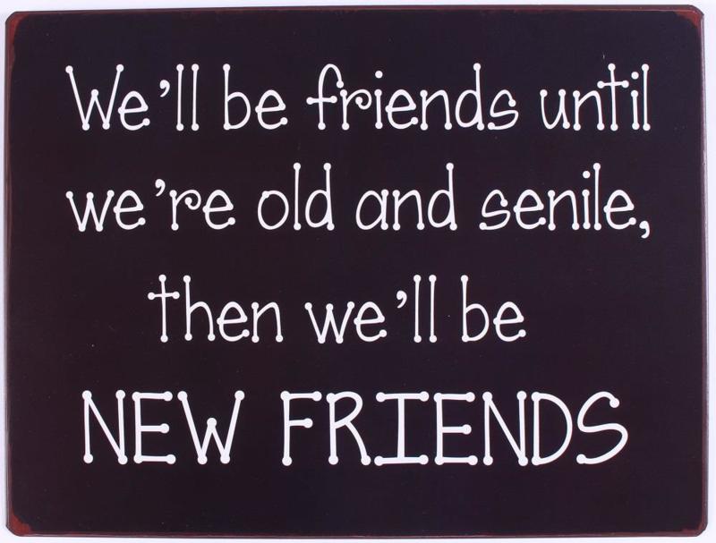 Metalen Tekstbord 'FRIENDS'