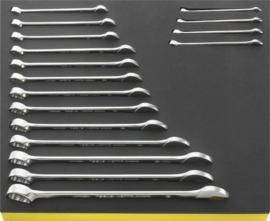 Stahlwille INCH steek-ringsleutel set + TCS inleg