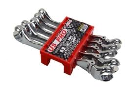 Mini remleiding (open ring) sleutel set met kniegewricht, Huismerk