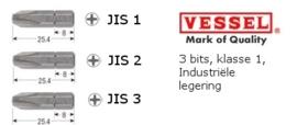 Vessel J.I.S bitset, 3 delig