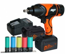 "SP Tools accu slagmoersleutel set 18V 4.0Ah 1/2"" 1300Nm"