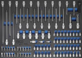 BGS foam module 3/3: Master dop-bit set 104 delig
