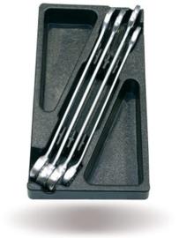 Steek-ring sleutelset 4-delig, type 40T40188