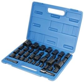Laser 1/2 en 3/8, mm en inch kracht doppen set, 37 delig