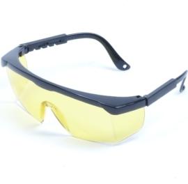 Veiligheidsbril met gele glazen