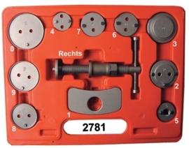 Remzuigertrekker en terugstel-set Midlock 2781