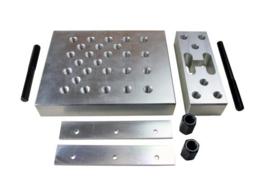 Aluminium pers support / pers platen set, Huismerk