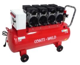 Contiweld 100 Liter 8 cilinder LOW NOISE compressor