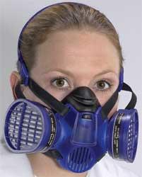 Dräger spuitmasker / halfgelaatsmasker incl. gasfilters