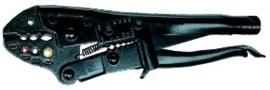 Krimptang ratelend, Knipex (voor geïsoleerde kabelschoenen)