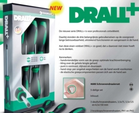 Stahlwille DRALL Schroevendraaierset, 5 delig