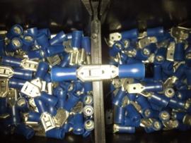 Kabelschoentjes PRO blauw, male + female 20stk.