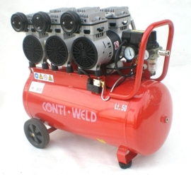 Contiweld 50 Liter 6 cilinder LOW NOISE compressor