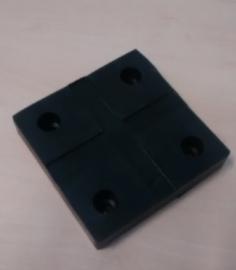 Beschermpad - rubber voor hoog model assteunen / brugsteunen