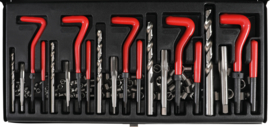 Huismerk helicoil-stijl assortimentsdoos 5: M5>M12, 130dlg.