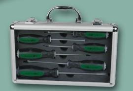Schroevendraaierset Mannesmann Greenline 6 delig + koffer