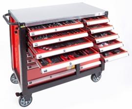 Airpress gereedschapswagen XL, 447 delig, foam