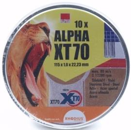 Alpha doorslijpschijf, 115 X 1mm, per 10 stuks.
