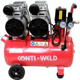 Contiweld 25 liter 4 cilinder LOW NOISE compressor