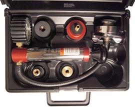 Midlock TE-123 radiator / koelsysteem druktester met uni adapters