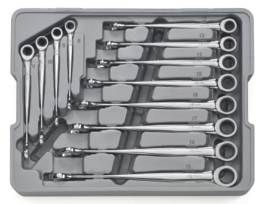 Gearwrench XL X-beam steek-ratel set, 12 delig NS
