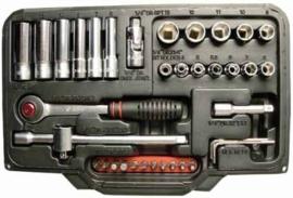 "Ampro AM-1 doppenset, 1/4"" 38 delig"