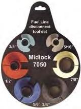 Demontageset airco en brandstof leidingen, Midlock