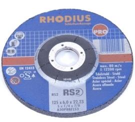 Rhodius afbraamschijf 115mm, per 3 stuks