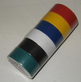 Electra tape, set van 6 rolletjes