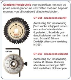 Gradencirkelschijf OP-360 Midlock