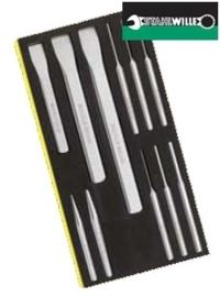 Stahlwille pendrijver en beitel set in foam inleg, 11 delig